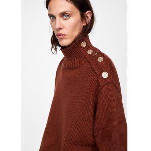 {Zara} Chunky Knit Sweater w/ Buttons